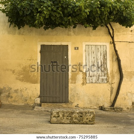 French village house with door. Provence. France