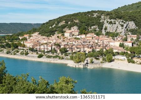 French village of Bauduen, Lac de sainte croix, le verdon, france