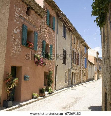 French Village street view. Provence.