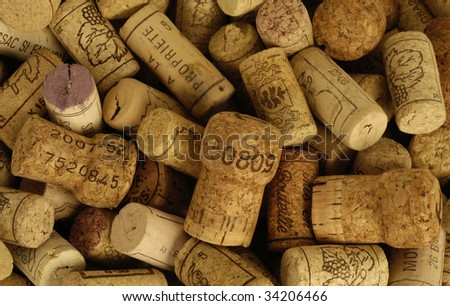 French wine corks