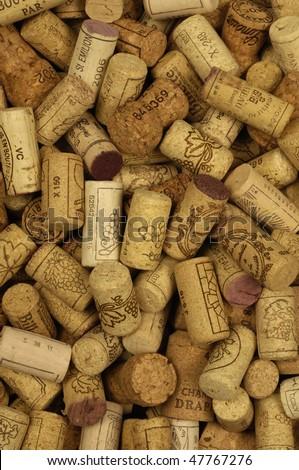French wine corks - stock photo