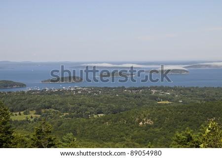 Frenchman Bay, Porcupine Islands, Acadia National Park, Maine, USA