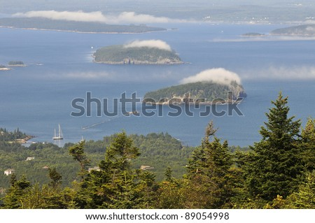 Frenchman Bay, Porcupine Islands, Acadia National Park, Maine, USA