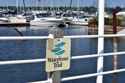 Frenchman's Bay Marina as seen from the Waterfront Trail in Pickering, Ontario, Canada