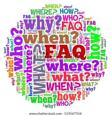 Frequent Ask Question in word collage
