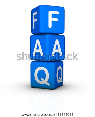 Frequently Asked Questions symbol isolated on white background