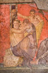 Fresco from Pompeii's Villa of Mysteries. Italy
