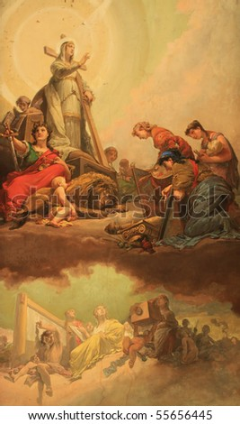 Fresco in Vatican museums - stock photo