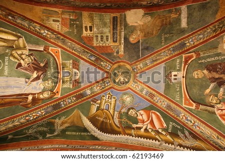 Fresco of Sant Eldrado Chapel (Novalesa Abbey Italy)