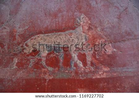 Fresco, Pompeii Naples Italy