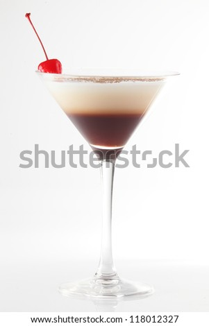 fresh and cold cocktail on white background
