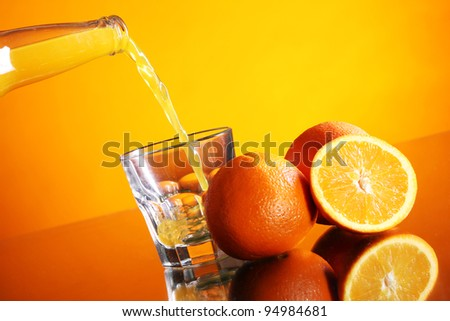 Fresh and cold orange drink