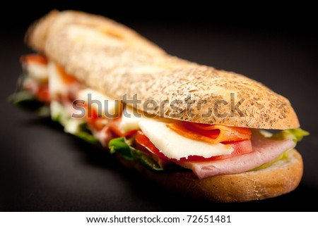 Fresh and Delicious Baguette Sandwich