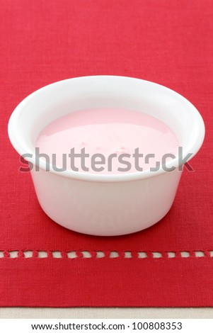 fresh and delicious creamy strawberry yogurt a healthy, nutritious and smooth snack