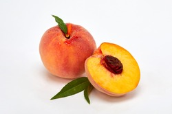 fresh and delicious red peach fruit
