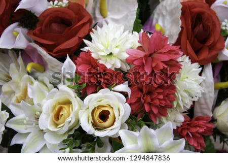 Fresh and fragrant roses, detail of romanticism and love #1294847836