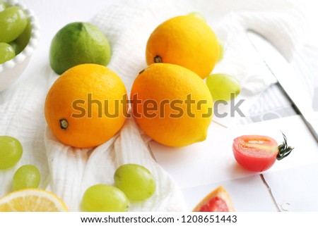 Fresh and fresh fruit #1208651443