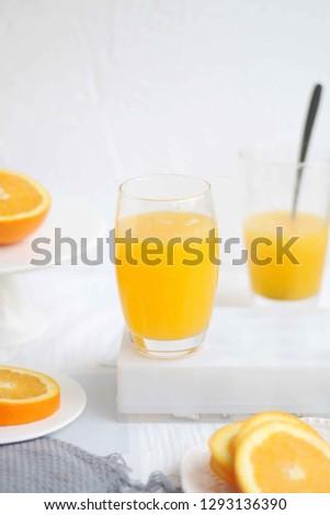 Fresh and fresh orange juice #1293136390