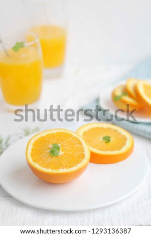 Fresh and fresh oranges #1293136387
