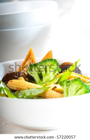 fresh and healthy tofu,beancurd with mix vegetables typical chinese dish
