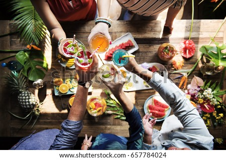 Shutterstock Fresh and juicy fruit and cocktail party