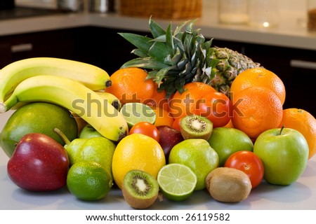 fresh and naturals fruits and vegetables mix, good for health