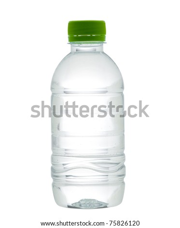 Fresh and purify drinking water  isolated on white