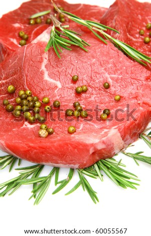fresh and raw beef steak