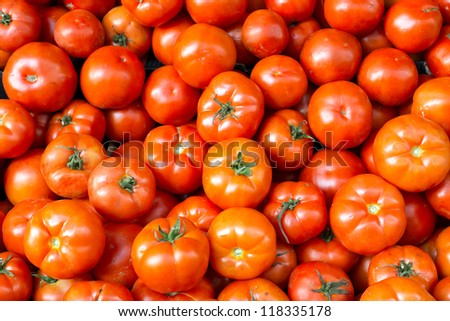 Fresh and ripe tomatoes
