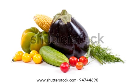 Fresh and ripe vegetables - stock photo