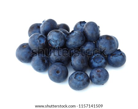 Fresh and sweet blueberry on white background, healthy fruit and diet. #1157141509