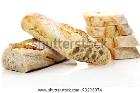 Fresh and tasty bread on the table
