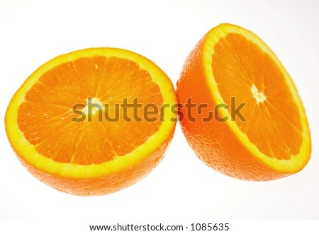 fresh and vibrant orange ready to eat or blend into juice. These clean colors on isolated white background will make any design pop.