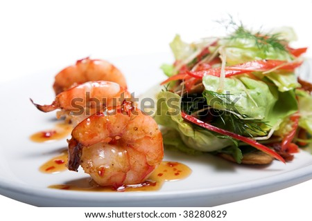 fresh appetizer isolated on the white background