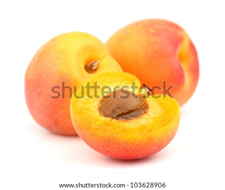 Fresh apricots in closeup