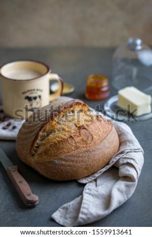 Fresh artisan sour dough bread