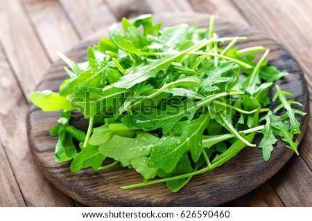 Fresh arugula leaves, rucola Foto stock ©