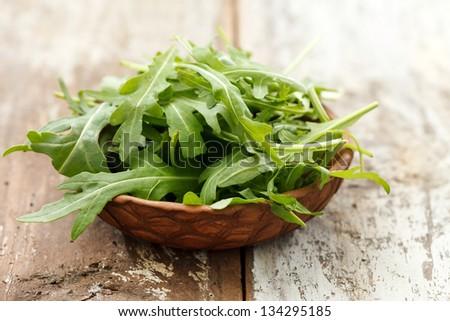 fresh arugula salad Foto stock ©