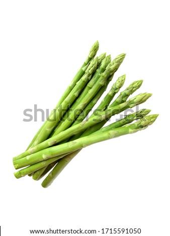 Fresh asparagus over white background. Stock photo ©