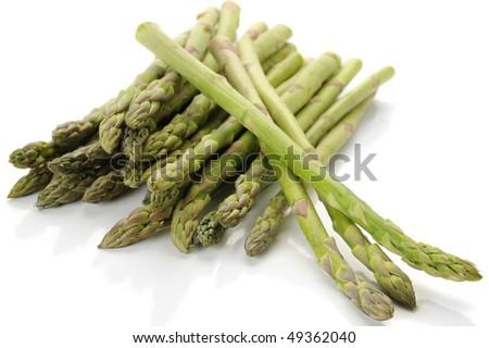Fresh asparagus studio isolated on white background