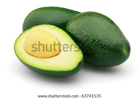 Fresh avocado - stock photo