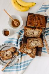 Fresh Baked Cinnamon Swirl Banana Bread