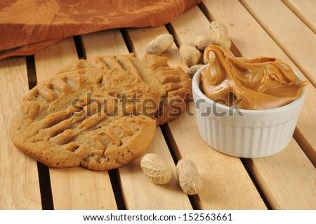 Fresh baked peanut butter cookies