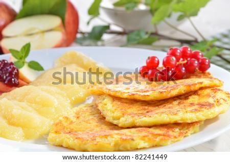Fresh baked potato pancakes