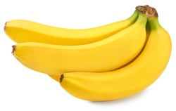 fresh banana isolated on white background. exotic. tropical. clipping path
