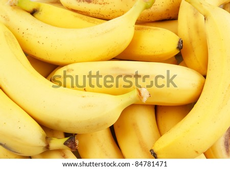 Fresh bananas background