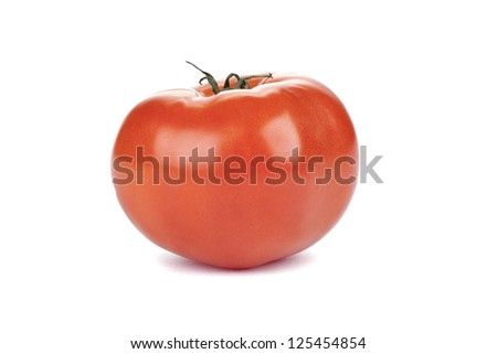 Fresh Beefsteak tomato over the white background