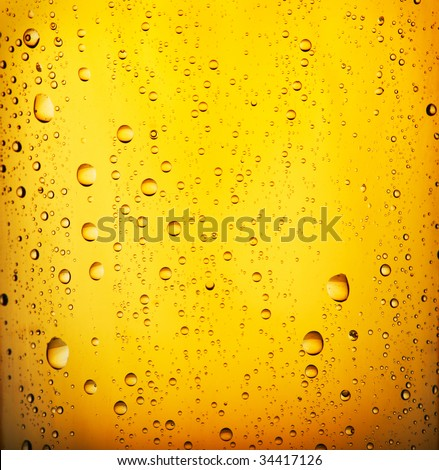 Fresh  beer with condensed water pearls. Closeup view.