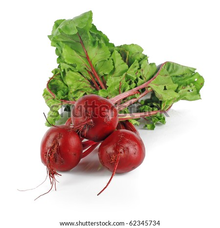 fresh beet roots isolated on white background, vegetables photo