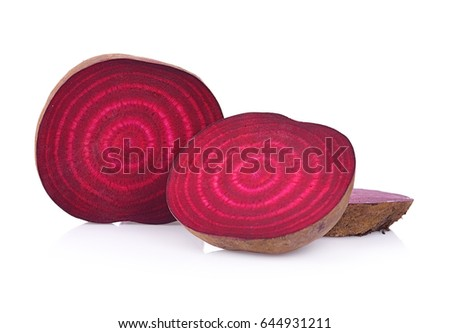 Fresh beetroot isolated on white (beetroot, beet, red)